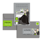 Product Image For Festive Formal Couple Glam Mail Address Labels and Coordinating Envelopes