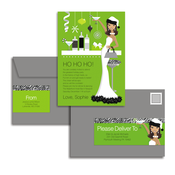 Product Image For Hip Holiday Hostess #2 Glam Mail Address Labels and Coordinating Envelopes