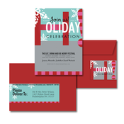 Product Image For Snowy Celebration Glam Mail Address Labels and Coordinating Envelopes