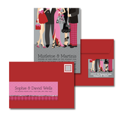 Product Image For Cool Cocktail Crowd Glam Mail Address Labels and Coordinating Envelopes
