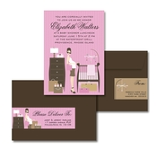 Product Image For Retro Pink Baby Room Glam Mail Address Label