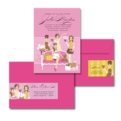 Product Image For Best Friends Baby Shower (Pink) Glam Mail Address Label