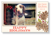 Product Image For Rustic Holiday Photo Card