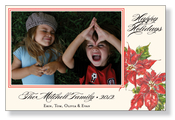Product Image For Pretty Poinsettia Photo Card