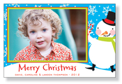 Product Image For Jolly Snowman Photo Card