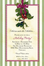 Product Image For Holiday Mistletoe Invitation