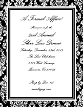Product Image For Sophisticated Black and White Damask Laser Paper