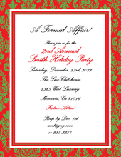 Product Image For Festive Red and Green Damask Laser Paper