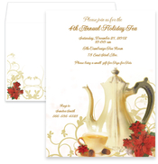 Product Image For Poinsettia Tea Invitation