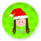 Product Image For Santa's Hat (Girl-Blonde) Plate