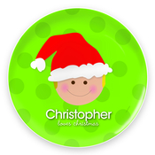 Product Image For Santa's Hat (Boy-Blonde) Plate