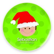 Product Image For Santa's Hat (Boy-Brunette) Plate