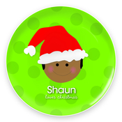 Product Image For Cute Boy in Santa's Hat - Plate