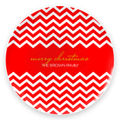 Product Image For Fancy Zig Zags (Red) Plate