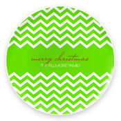 Product Image For Fancy Zig Zags (Green) Plate