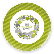 Product Image For A Golden Christmas Wreath Plate