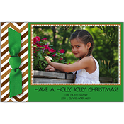 Product Image For Gather Around the Green Holiday Ribbon Photo Card