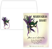Product Image For Mardi Gras Bash Invitation