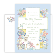 Product Image For Communion Lamb Pastel-Blue Invitation