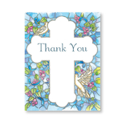 Product Image For Blue Mosaic Thank You Note Card