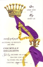 Product Image For Courtly Invitation with Silk Ribbon