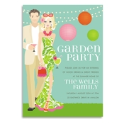 Product Image For Garden Party Blonde Invitation