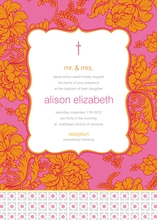 Product Image For Hot Pink and Orange Broacade Invitation