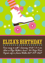 Product Image For Birthday Rollergirl Invitation