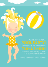 Product Image For Pool Party (Buttercup/Blonde) Invitation
