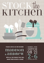 Product Image For Stock The Kitchen (Blue) Invitation