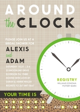 Product Image For Around The Clock - Tan/Green Invitation