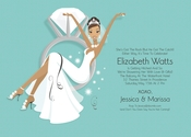 Product Image For Swinging Ring Bride (Blue/African American) Invitation