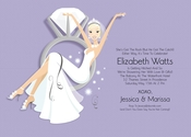 Product Image For Swinging Ring Bride (Purple/Blonde) Invitation