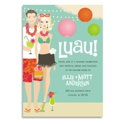 Product Image For Luau! (Blonde) Invitation