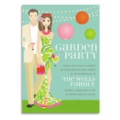 Product Image For Garden Party (Brunette) Invitation