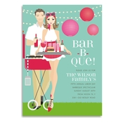 Product Image For Backyard BBQ (Brunette) Invitation