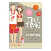 Product Image For Tiki Time! (Brunette) Invitation