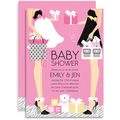 Product Image For Moms-To-Be (Pink) Invitation