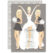 Product Image For Bride and Bridesmaids (Blonde) Invitation