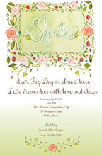 Product Image For Orange Roses Marquee Shower Invitation