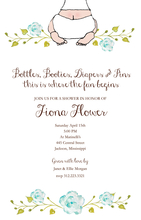 Product Image For Baby Boy Bottom Invitation