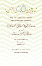 Product Image For Chevron Rings Invitation