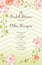 Product Image For Chevron & Roses Invitation