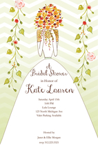 Product Image For Peekaboo Chevron Bride Invitation