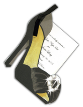 Product Image For Black Shoe With Bling w/Black Ribbon