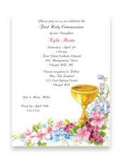 Product Image For Golden Chalice invitation