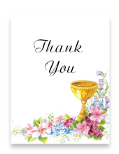 Product Image For Golden Chalice Thank you Note Card