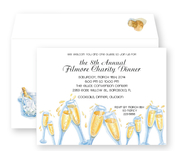 Product Image For Toasting Champagne Invitation