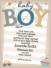 Product Image For Baby Boy Invitation