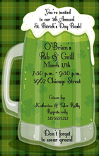 Product Image For Green Beer Invitation